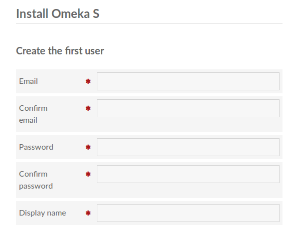 Installing - Omeka S User Manual