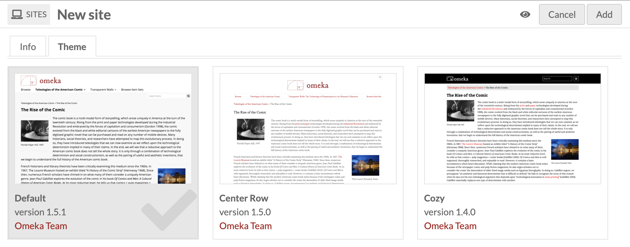 Sites Management - Omeka S User Manual