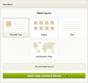 Exhibit Builder layouts