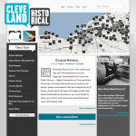 screenshot of Cleveland Historical site